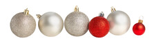 Christmas Balls In A Row Isola...