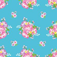 花柄 シームレスパターン 台湾花布