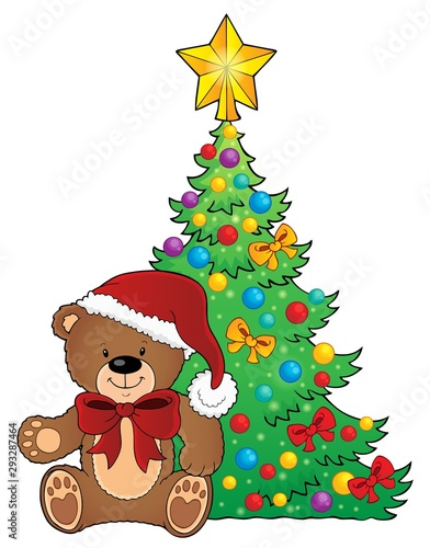 Poster Voor kinderen Christmas teddy bear topic image 2