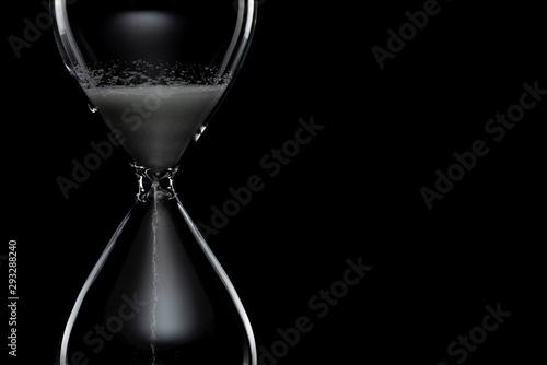 Fotomural 砂時計 黒バック