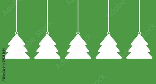 Breiter schlichter Weihnachtsbanner hellgrün weiß