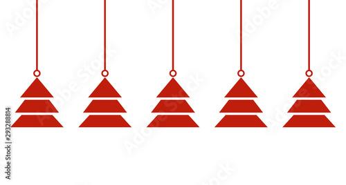 Breiter schlichter Weihnachtsbanner rot weiß