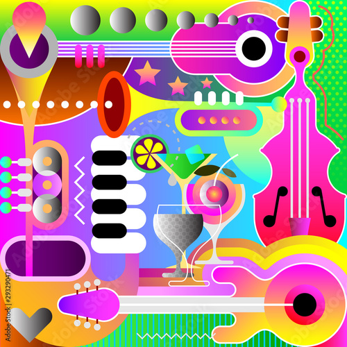 Art abstrait Musical Background Design