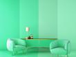 Leinwanddruck Bild - interior design for color trend 2020,3d rendering,3d illustration