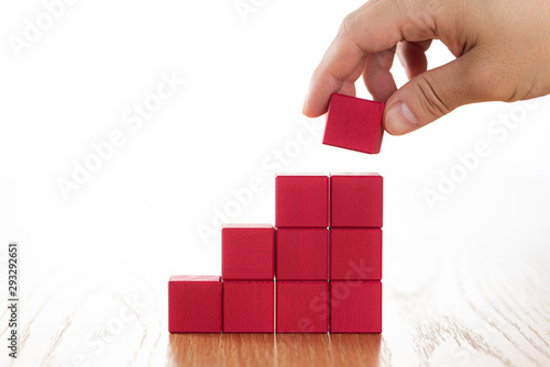 Fotografía ブロックを積み上げる
