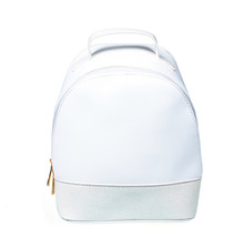 Small White Leather Backpack B...