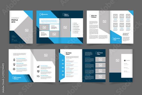 Photo  company profile brochure vector design template