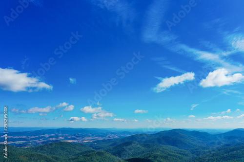 Keuken foto achterwand Donkerblauw Skyview