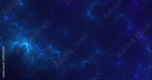 3D rendering abstract space and nebula background Fototapet