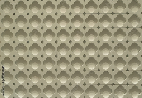 Fotografie, Obraz Modern perforated holes tiles with tracery
