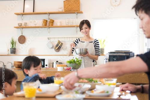 Fotomural 家族の食事