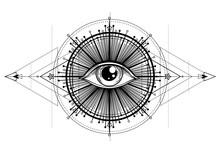 Eye Of Providence. Masonic Sym...