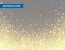 Sparkling Golden Glitter On Tr...