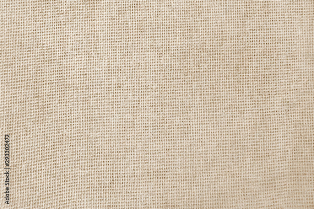 Fototapety, obrazy: Brown cotton fabric texture background, seamless pattern of natural textile.