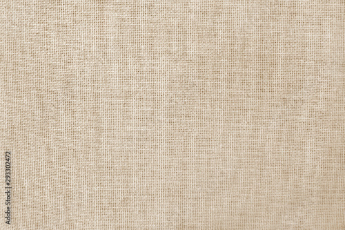 Canvas Print Brown cotton fabric texture background, seamless pattern of natural textile