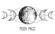 Triple Moon Pagan Wicca Moon G...