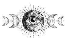Eye Of Providence. Masonic Sym...