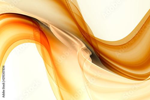 Obraz Gold motion modern waves background. - fototapety do salonu