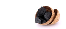 Coconut Charcoal Isolated On W...