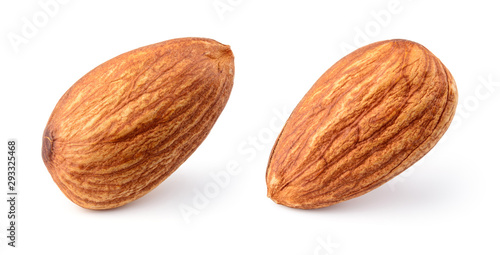 Almonds isolated Wallpaper Mural