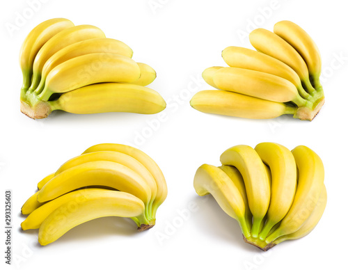 Banana isolate. Bananas isolated on white background. Banana set.