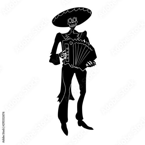 Photo  El mariachi skeleton musician