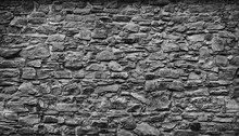 Very Old Gray Natural Stone Wall