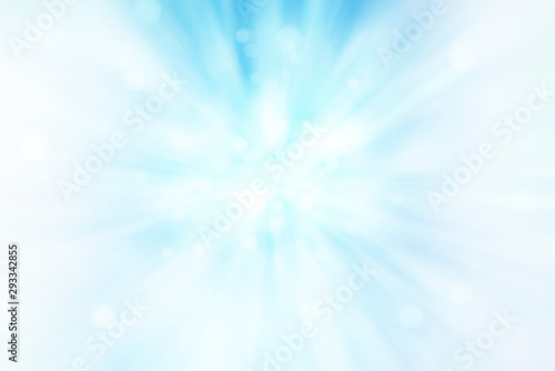 Pinturas sobre lienzo  Blurred rays of light abstract blue background