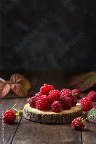 Photo Image with raspberries