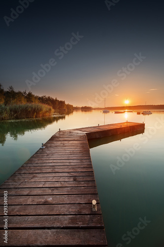 Fototapeta pomost   tychy-jezioro