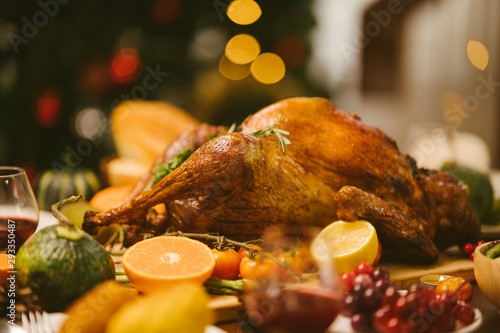 Fotomural Roast Turkey in Thanksgiving Day.