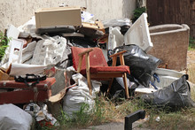 Pile Of Garbage Outdoors On Th...