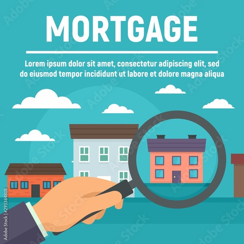 Mortgage Concept Banner Flat Illustration Of Mortgage Vector Concept Banner For Web Design Buy This Stock Vector And Explore Similar Vectors At Adobe Stock Adobe Stock