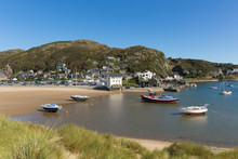 Barmouth Wales Gwynedd Snowdonia National Park UK Beautiful Town On Coast