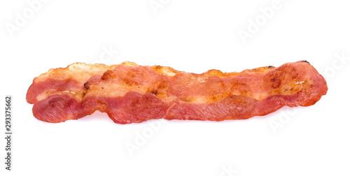 Photo Cooked bacon rashers isolated on white