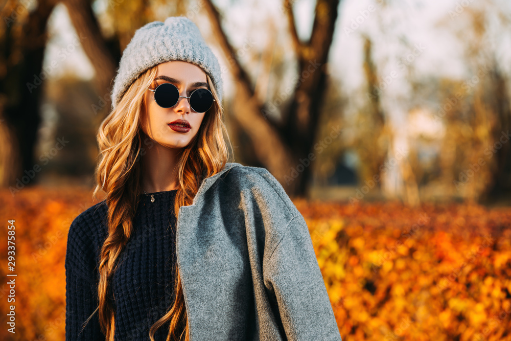 Fototapeta autumn fashion for young people