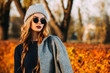 canvas print picture - autumn fashion for young people