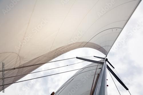 Sailing boat sails background