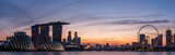Wide panorama of Singapore cityscape