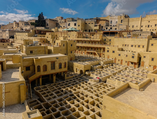 Tanneries in Medina of Fez