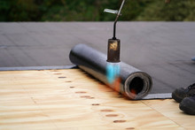 Bitumen Roofing.,  With A Gas ...