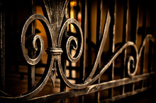 Exquisite Forged Elements Of Metal Fencing