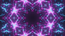 Futuristic Digital Technological Abstract Bright Kaleidoscope With Luminous Internet Lines For Network, Big Data, Data Center, Server, Internet, Speed. 3d Illustration