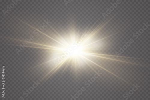 Fototapeta Vector transparent sunlight special lens flare light effect. obraz na płótnie