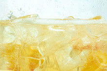 Close Up Of Lemon Slices In St...