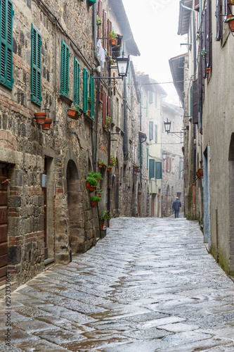Back street in an old city of Italy