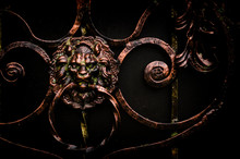 Forged Doorknob With Lion Head