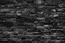 Decorative Stone Wall With A B...