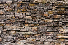 Decorative Stone Wall With Bea...