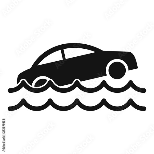 Car flood icon Canvas-taulu